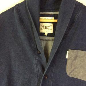 Marc Ecko Jackets & Coats - Marc Ecko Cut & Sew Blue Cotton Chambray Cardigan